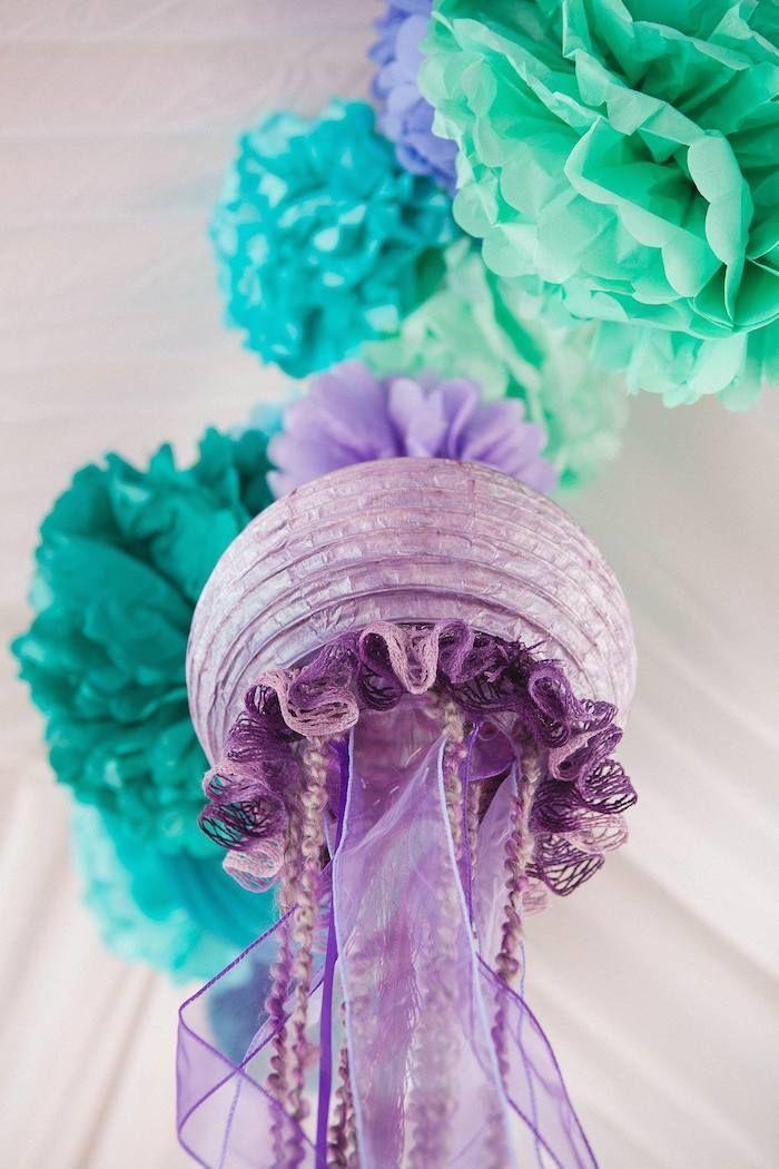 Jellyfish Made From Paper Lanterns Luau Amp Beach Parties