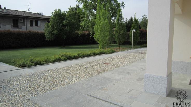 QuarzoArenite stone flooring and Ciottoli