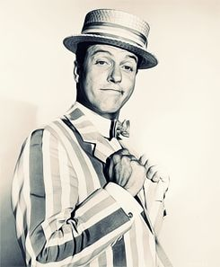 Dick Van Dyke as Bert. His suit was in Sid's at Disney's Hollywood Studios a few years ago. My brother and I just stared at it, it was like seeing a childhood hero in person.
