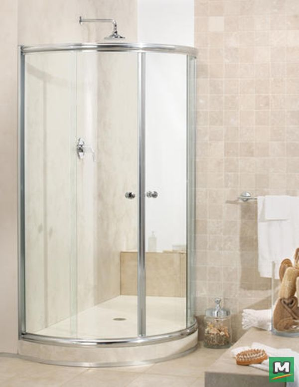 add a shower to any space with the maax tully round sliding shower door