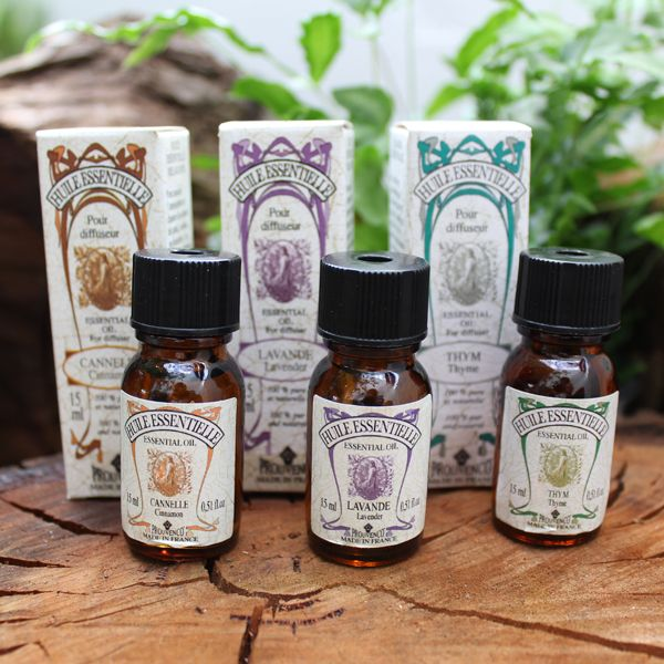 Prouvenco essential oils of lavender, cinnamon and tyme from Provence, France.  www.frenchaffair.com.au