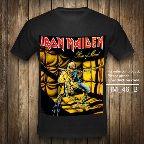 IRON MAIDEN P T-Shirt Heavy Metal Rock Band Vintage Retro Black Graphic T XS-2XL #Unbranded #GraphicTee