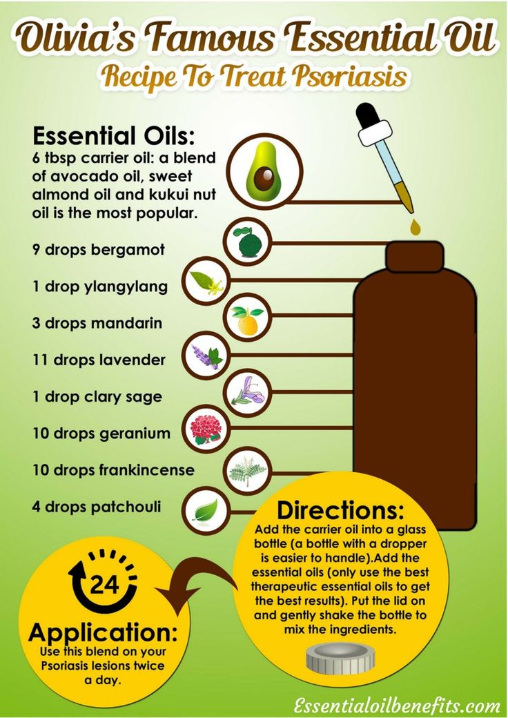The 9 best Essential Oil Recipes Infographics images on Pinterest - essential oil for psoriasis