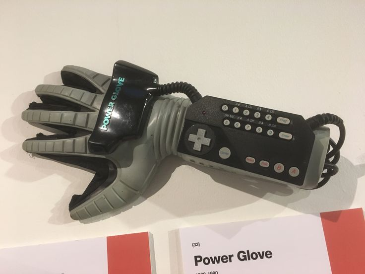 The Power Glove, first seen in the movie The Wizard.  I always wanted to use one if these, and one of my best friends even had one, but alas, it stayed up in his closet for some reason.  I hope he at least resold that barely used artifact to some collector.