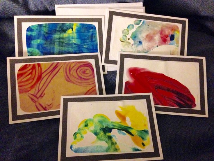 Set of 5 blank cards and envelopes with framed artwork theme on front. All artwork was made by children at one of the childcare centers that supports these children in crisis.   eBay!