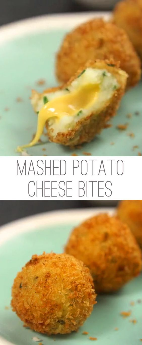 Mashed potatoes are one of those dishes that everybody likes. So doesn't that mean there should be TONS of ways to adapt them into fun and tasty treats?! We think so, and we're starting with these little bites that are fried to perfection. Even better? They have a gooey cheese center that takes them from delicious to WOW. Check them out!