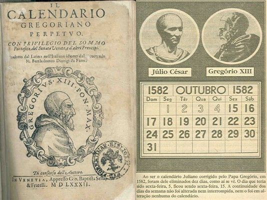 On 24 February 1582, Pope Gregory XIII, enlisting the expertise of distinguished astronomers and mathematicians, issued a bull correcting the Julian calendar, which was then 10 days in error. The correction was a minor one, changing the rule about leap years. The new calendar named for him, the Gregorian calendar, became effective 4 Octtober 1582, in most Catholic countries. It is the most widely used calendar in the world...