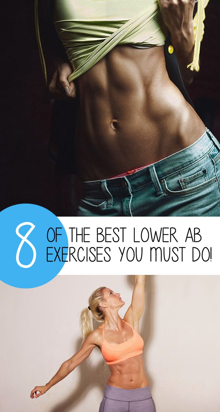 8 Best Lower Ab Exercises To Help Flatten Your Stomach!
