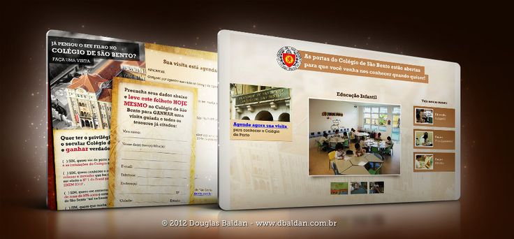 Colégio de São Bento | Douglas Baldan - Online Portfolio | Criar sites, blogs, Templates de Wordpress, Freelancer, layout