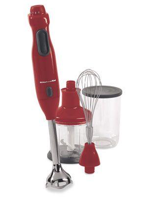 KitchenAid Immersion Blender with Whisk and Chopper KHB300ER