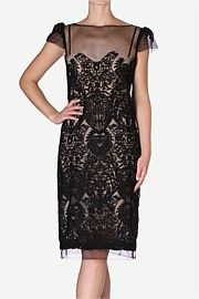 Carla Zampatti-Caviar Lace Sheath Dress