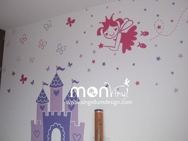 Vinilo mundo de princesas vinilos decorativos vinilos for Adhesivos decorativos infantiles