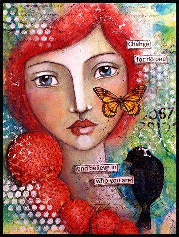 2014 Resolution No 6 - Create an art journal. ! - faces for inspiration . wonderful artist.