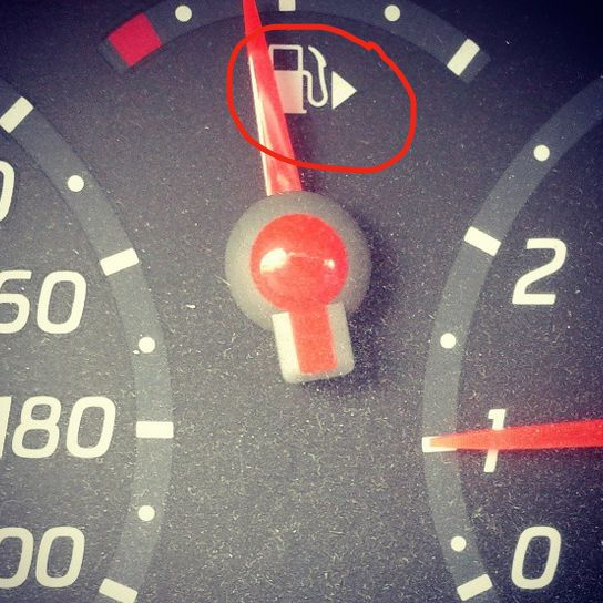 What�s that arrow next to your gas gauge there for? | 24 Everyday Things You Never Knew Even Had A Purpose