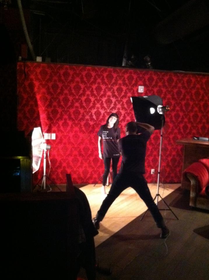 Behind the scenes - Marigny Dance Club photoshoot