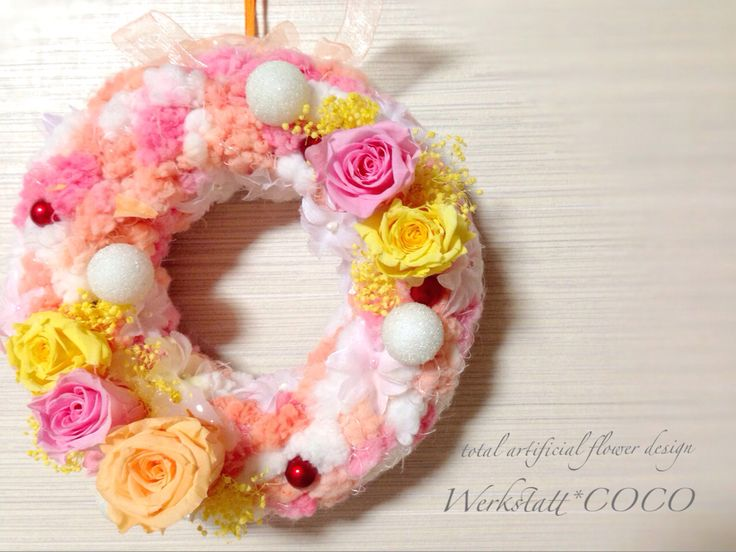 puffy wreath*triple rose http://wercoco.theshop.jp/items/592244