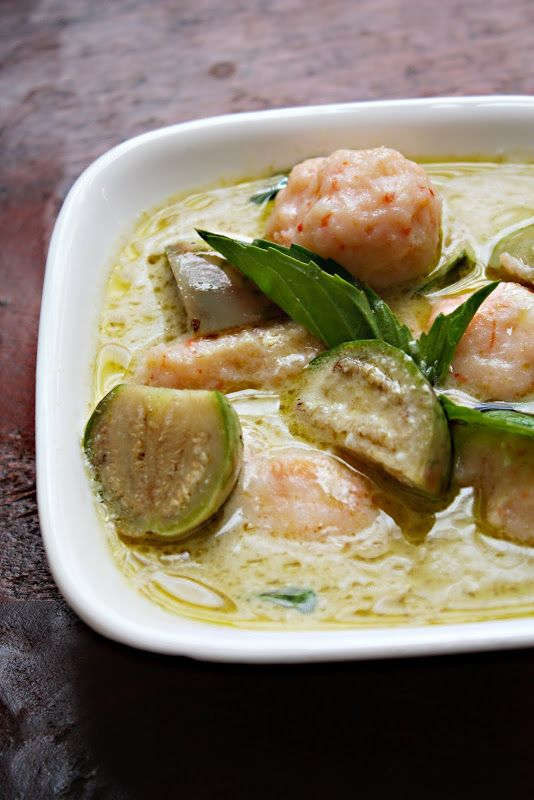 Thai Green Curry with Round Eggplants and Shrimp Dumplings ...