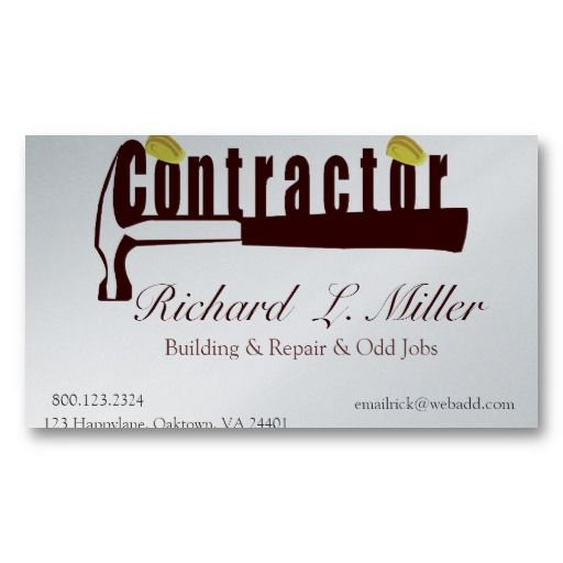 Maxi Sy Hat Builder Constructing Contractor Business Card Stuff Sold On Zazzle Pinterest Cards And Design