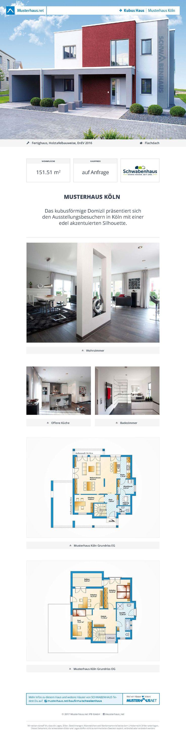 #Kubus Haus · Musterhaus Köln · SCHWABENHAUS · Jetzt bei #Musterhaus.net Unterlagen anfordern!