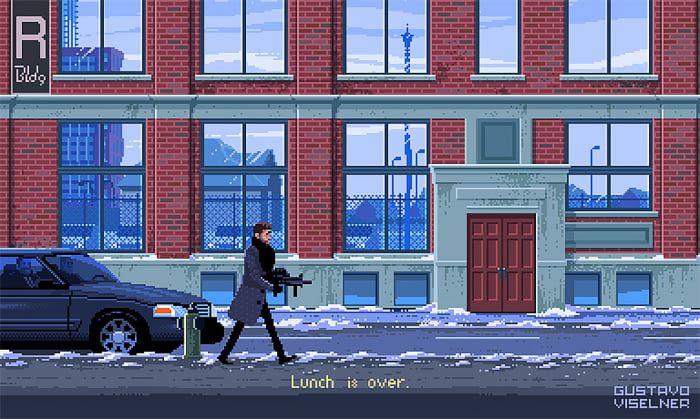 Artist Creates Pixel Art Game Scenes Based On Popular TV Series And Movies - 9GAG