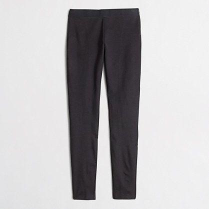 "J.Crew Factory Factory Gigi pant $85 : Stretch ponte fabric (rayon/nylon/spandex). Side zip. 30"" inseam. Dry clean. Import."