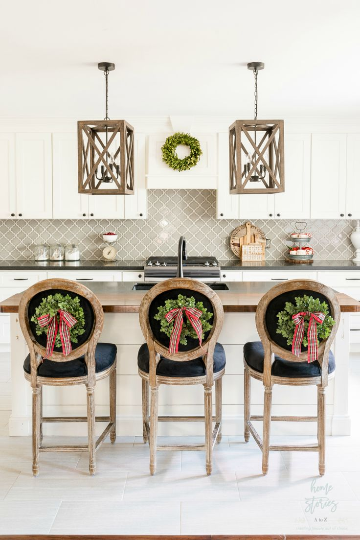 Red Plaid Christmas Home Tour - Home Stories A to Z
