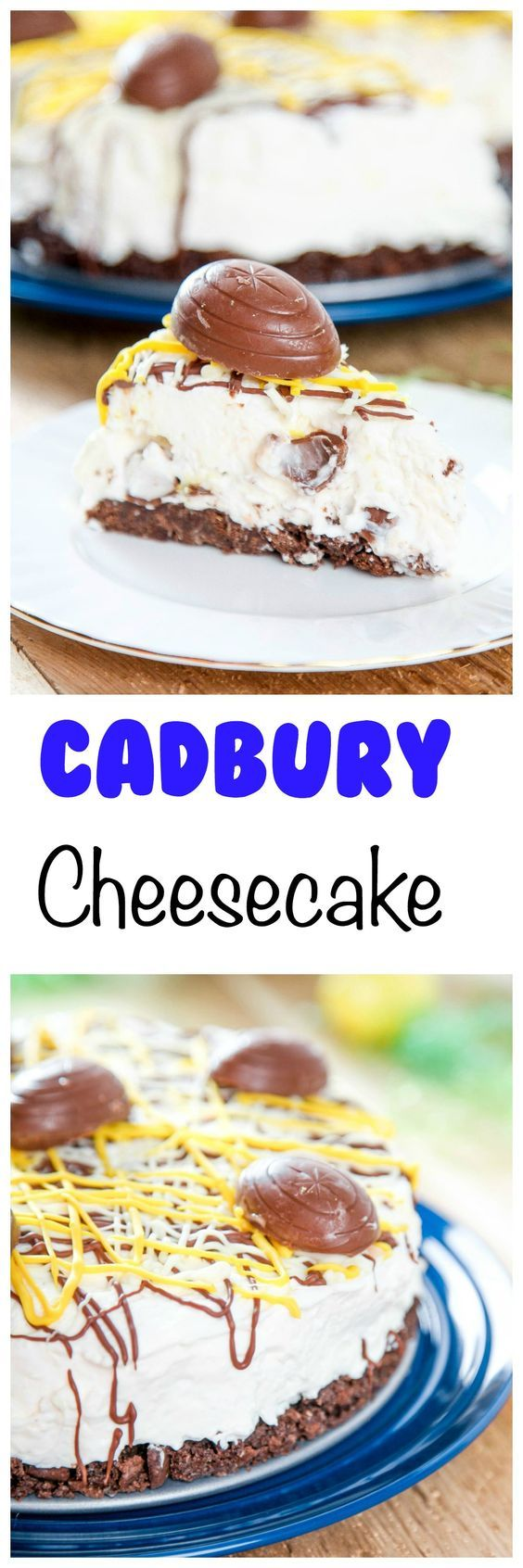 Creme Egg Cheesecake: Silky smooth cheesecake with Cadbury Eggs in every bite. The most decadent Easter dessert ever!