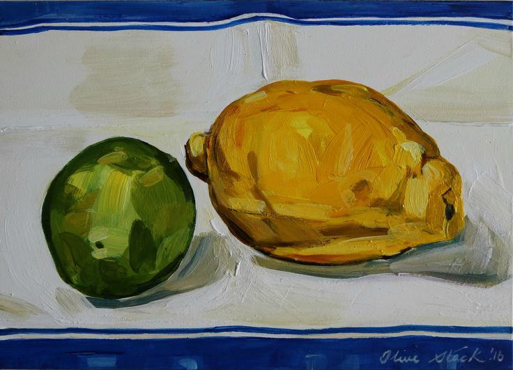 Citrus Pair Acrylic on Panel €300 I'm finally getting the hang of the challenge! I am using it to work from life on small paintings and particularly enjoyed this piece. The cloth I placed the lemon...