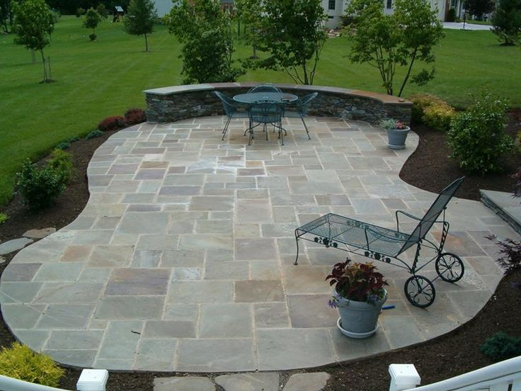 26 awesome stone patio designs for your home page 2 of 5 - Flagstone Patio Designs