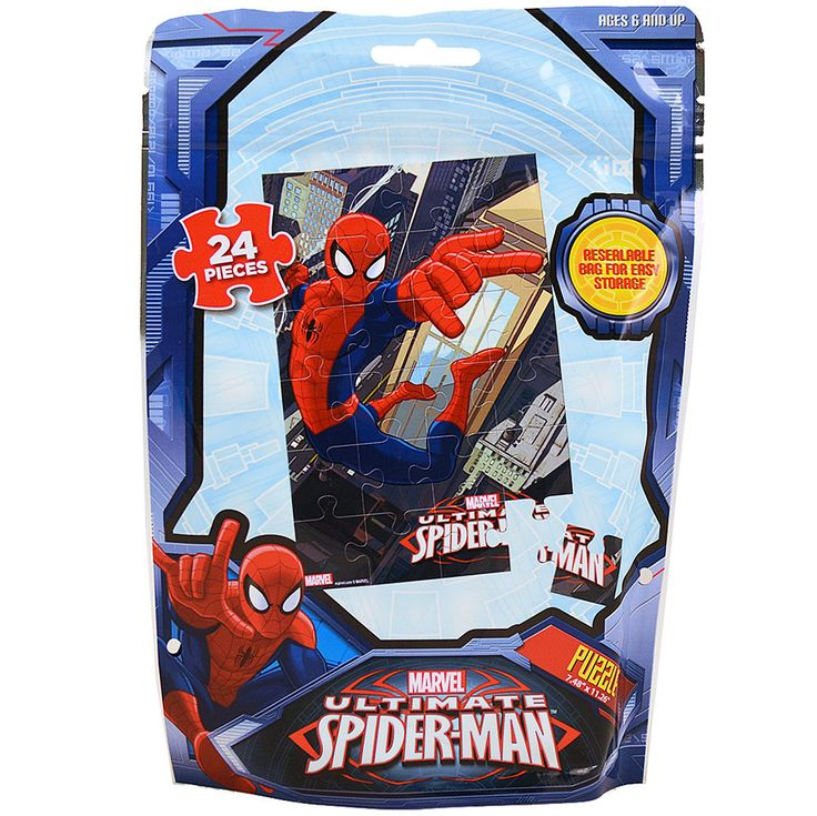 Marvel Ultimate Spider-Man Puzzle [24 Pieces - Resealable Bag]