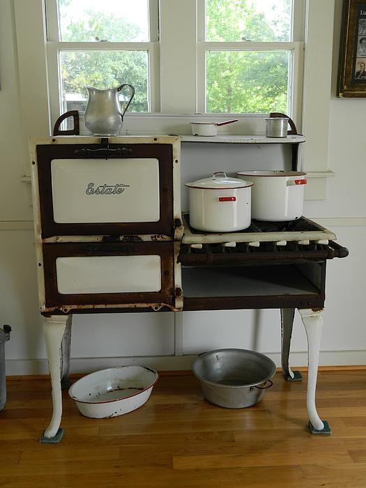 Antique Estate Stove with Cookware