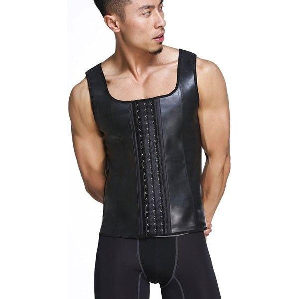 Men's Latex Waist Trainer Vest Body Shaper Corsets