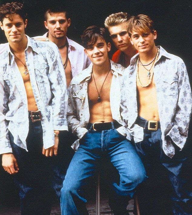 In the old days: Gary Barlow started his career in boy band Take That, pictured here in 1996