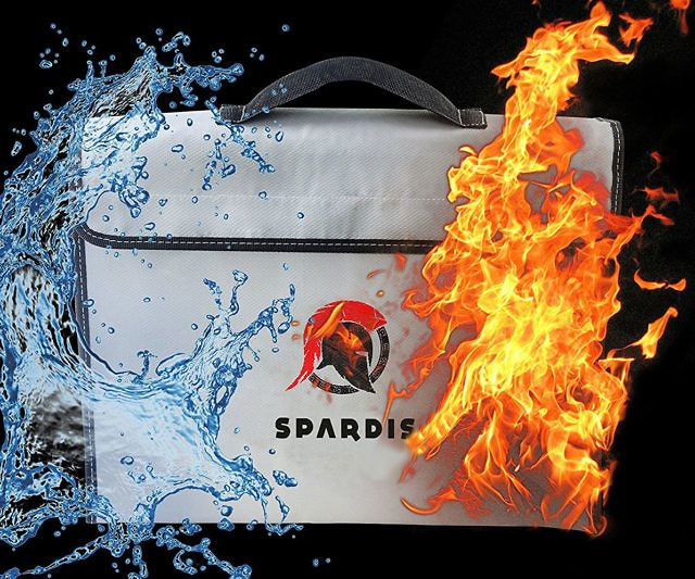 Safeguard your valuables in the event of a flood or fire by storing them inside this fireproof/waterproof money bag. The bag is made with a layer of silicon coated fiberglass with heat blocking aluminum foil that can resist flames up to 1100°F.