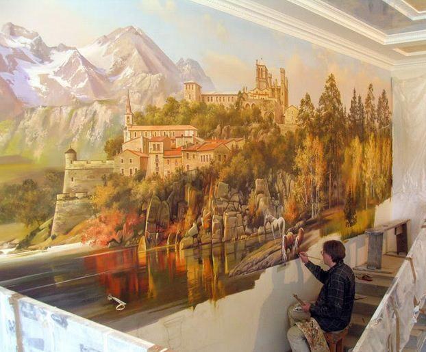Сергей Брандт. Роспись стен. Шестая