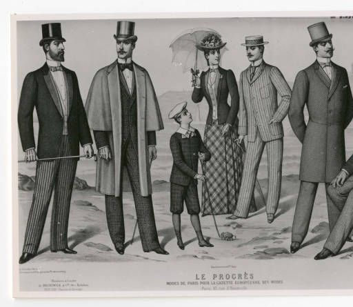 Men 1890-1900, Plate 012 :: Costume Institute Fashion Plates