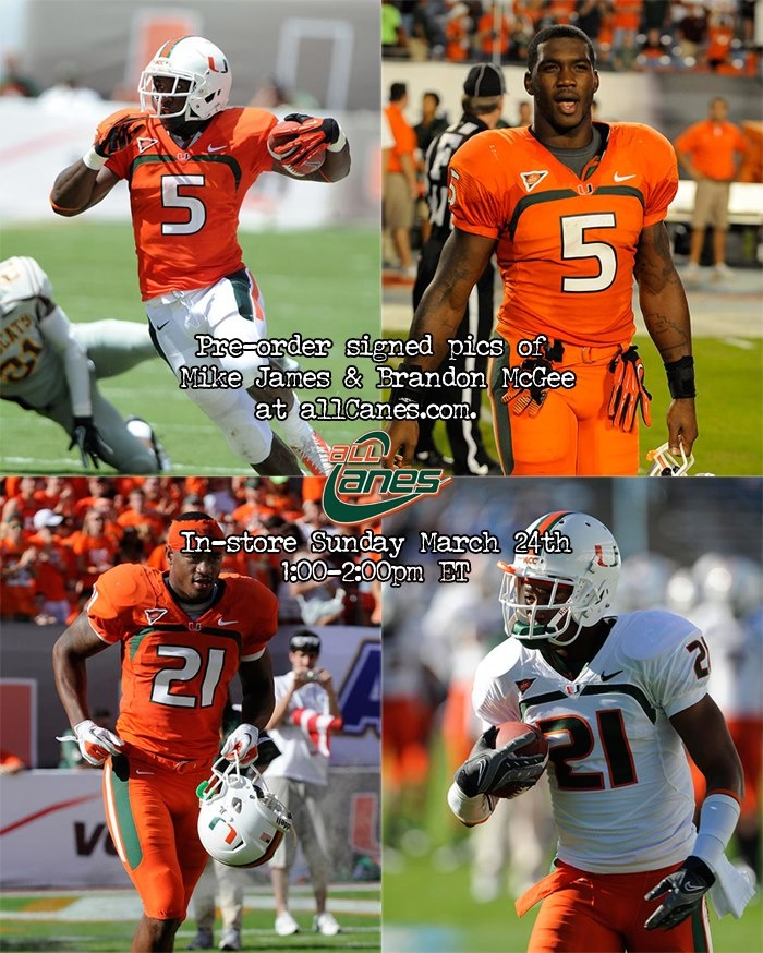 Join Mike James and Brandon McGee at allCanes this Sunday!