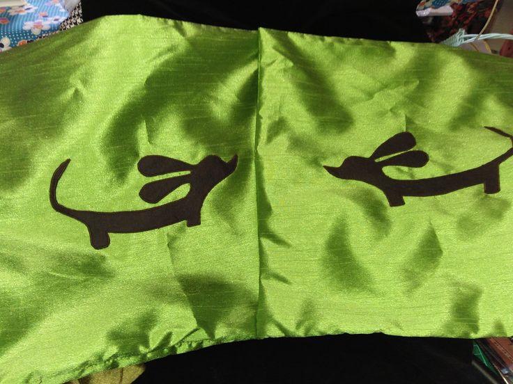 Dachshund cushion cover pair $25