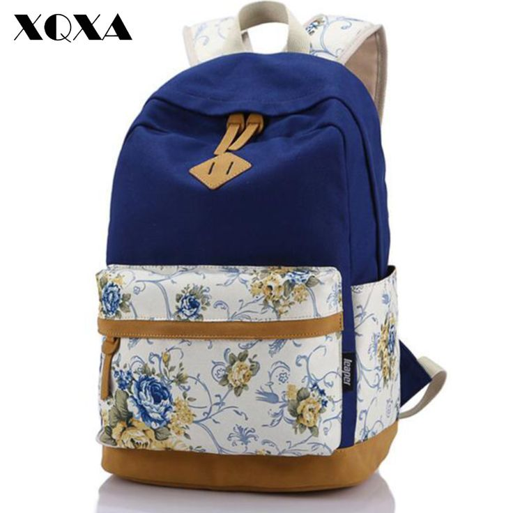 Brand Genuine Quality Floral Leather Canvas Bag Backpack School for Teenager Girl Laptop Bag Printing Backpack Women Backpack-in Backpacks from Luggage & Bags on Aliexpress.com | Alibaba Group
