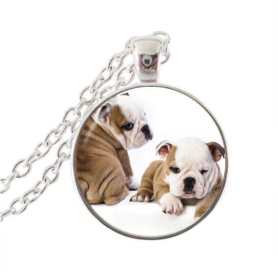 Ювелирные изделия собака ожерелье собака кулон ювелирные изделия длинные цепи ожерелье животных ювелирные изделия из стекла кабошон ожерелье аксессуары