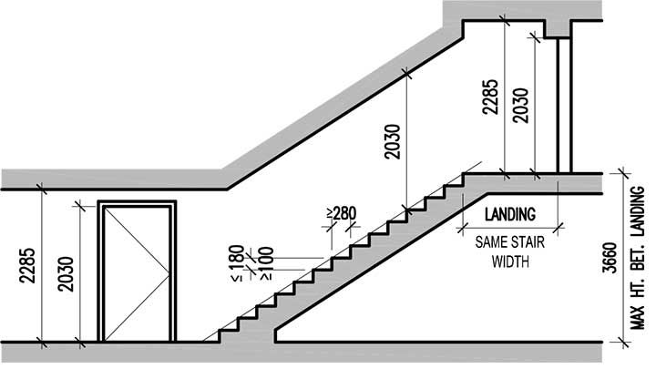 Emergency Staircase Dimensions T 236 M Với Google Exit