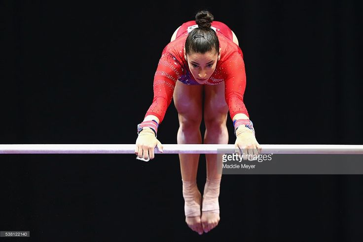 Alexandra Raisman competes on the uneven bars during the Sr. Women's 2016 Secret U.S. Classic at the XL Center on June 4, 2016 in Hartford, Connecticut.