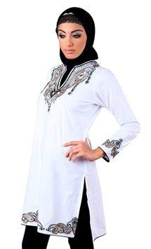 Islamic Tunics For Women, Fancy Neck Kurti | EastEssence Shoppin Store
