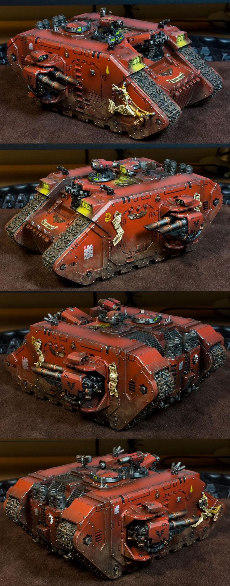 Blood Angels, Land Raider, Object Source Lighting, Space Marines, Weathered