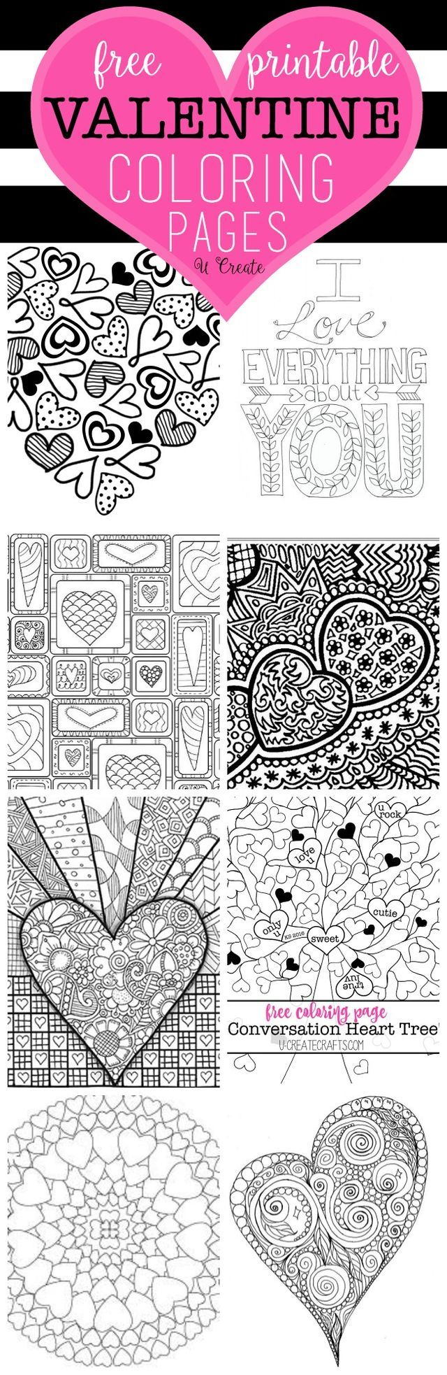The Free Valentine Coloring Pages are here! You can't walk into a store without seeing those popular adult coloring books everywhere and you are sure to LOVE these pages. You can hang or frame your fi