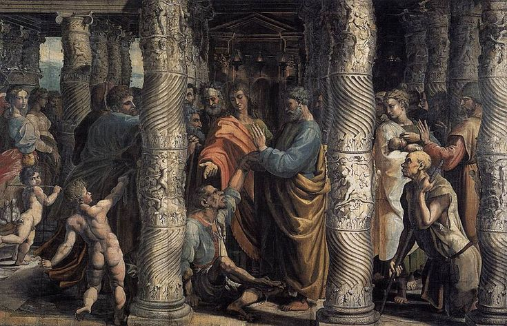 V&A - Raphael, The Healing of the Lame Man (1515) - Cappella Sistina - Wikipedia