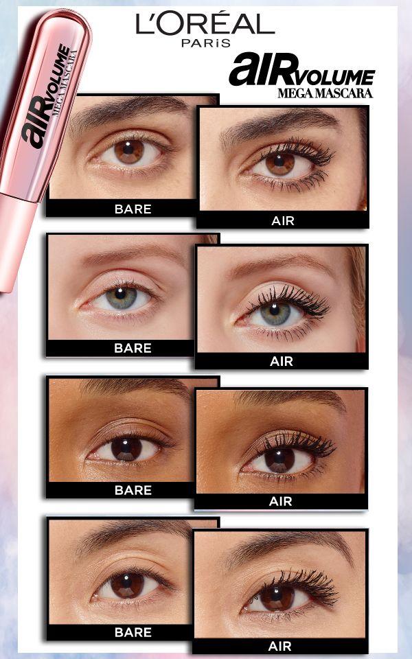 New L Oreal Paris Air Volume Mega Mascara Transformation Voluminous Original Mascara Makeup Skin Care Eye Makeup