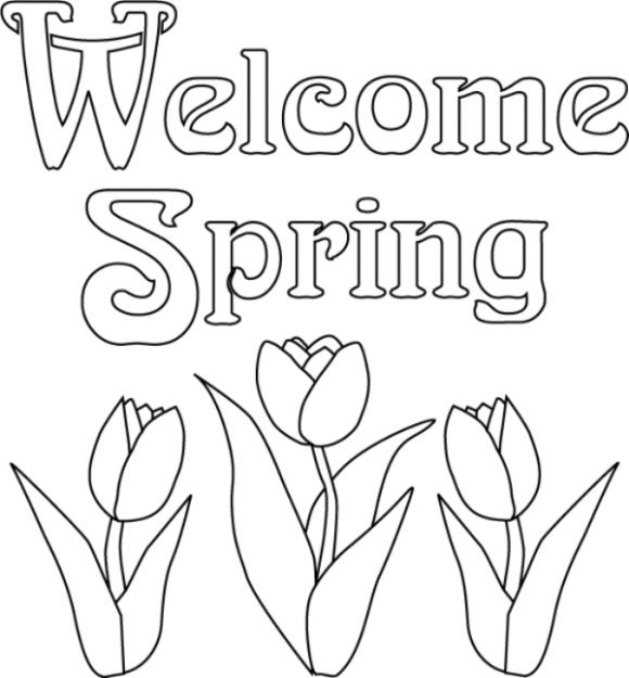First Day Of Spring Coloring Page Spring Coloring Sheets Flower
