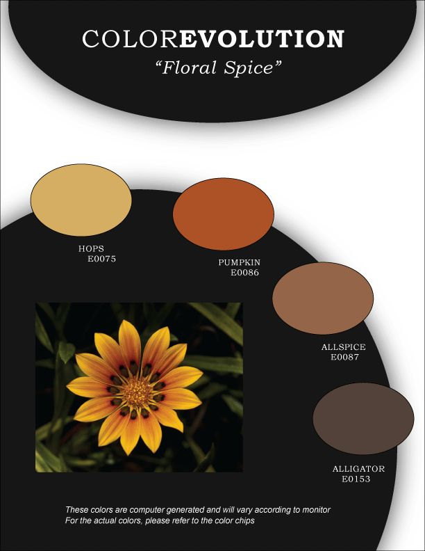 28 best in the garden of color images on pinterest color boards colorevolution combo floral spice by miller paint fandeluxe Gallery