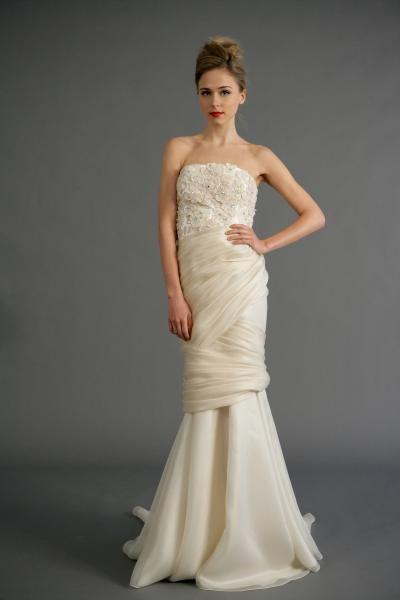 Robe de mariée sirène originale organza applique